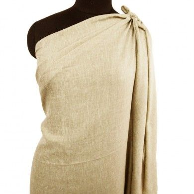 Beige Winter Shawl Pure Wool Men Wear Lohi Stole Solid Pattern Indian Wrap