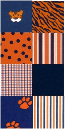 1 Yard Fabric Finders Navy and Orange by angelasfabricandtrim, $10.00