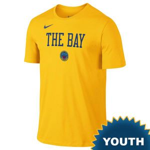 553f31309d4 Golden State Warriors Nike Dri-FIT Youth Chinese Heritage  The Bay  City  Edition Tee - Gold