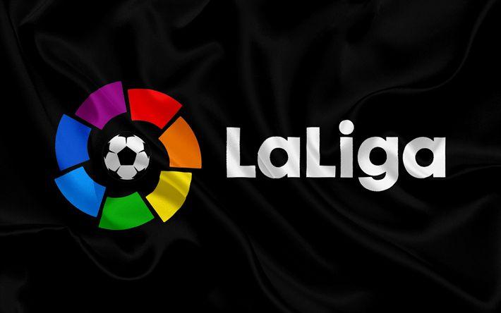 Descargar fondos de pantalla La Liga bbva, España, emblema, logotipo de La Liga, española de Fútbol Campeonato de fútbol
