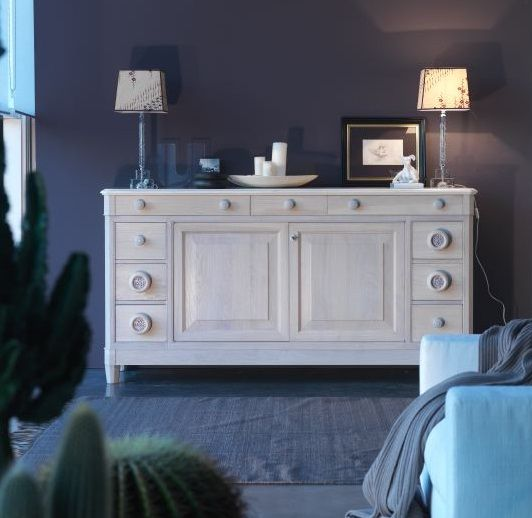 TC121 sideboard in MAESTRALE LATTE color. 100% hand made in Italy www.marchettimaison.com