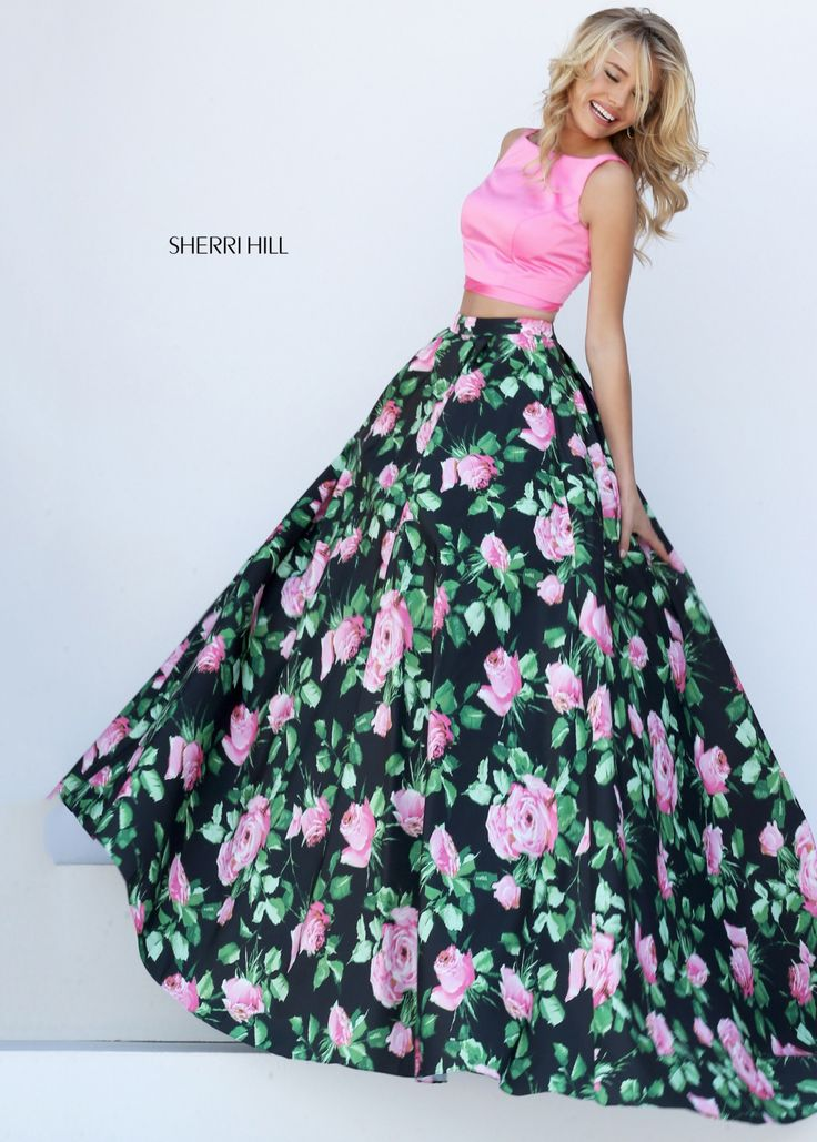 Stripe insert prom dress