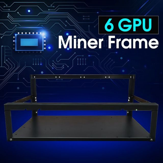 New Crypto Coin Open Air Mining Miner Frame Rig Case up to 6 GPU ETH BTC Ethereum High Quality computer Case Towers For BTC now at http://ift.tt/2DtGhBd #BitCoinMiningInfo