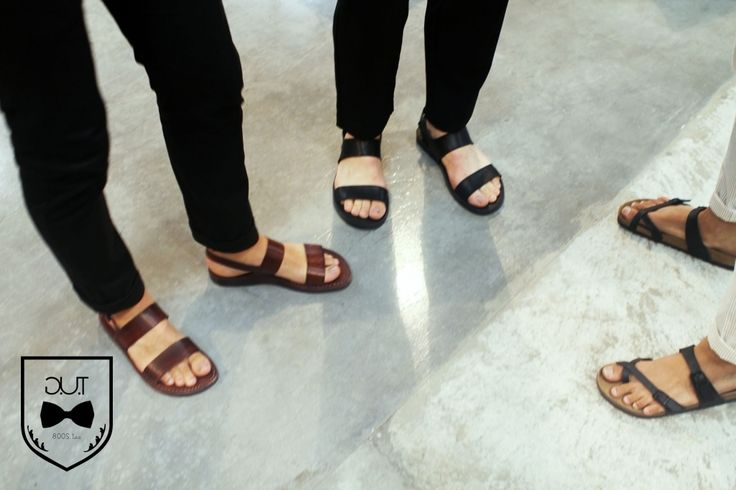 The Opening Act New York Brown Leather Men's Sandals