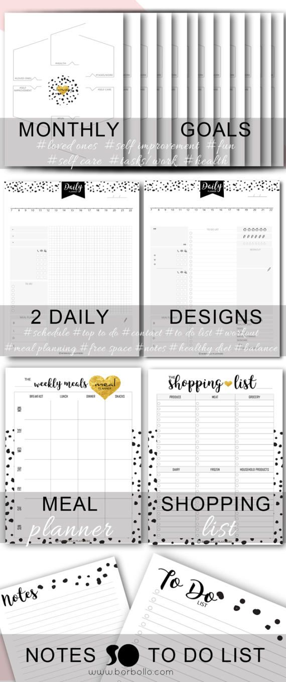 2017 Printable Planner - Full 2017 Planner kit - Printable Planner Pages - LETTER SIZE ✽ 50% OFF WELCOME PRICE - ORIGINAL PRICE 25Euros ✽ A5 SIZE HERE: https://www.etsy.com/listing/518233953 A4 SIZE HERE: https://www.etsy.com/listing/518228883 *** For a fully dated 2017 planner check this design also: https://www.etsy.com/listing/496345473 *** • PLANNER COVER (FRONT) • PLANNER COVER (BACK) • 2017 YEARLY INSERT • UNDATED MONTHLY ...