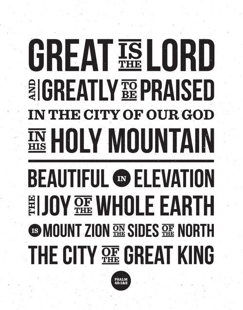Great is The LORD!