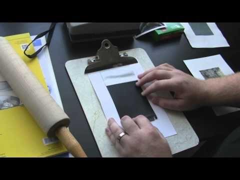 Peeling Fuji Instant Film FP100 C Transfer - YouTube