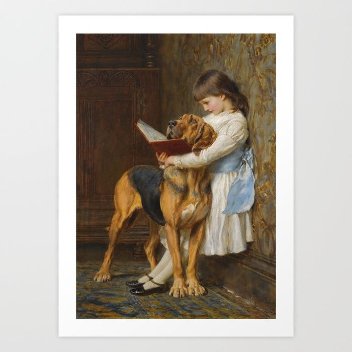 Buy Briton Riviere - Reading Lesson Compulsory Education Art Print by famousartgallery. Worldwide shipping available at Society6.com. Just one of millions of high quality products available.