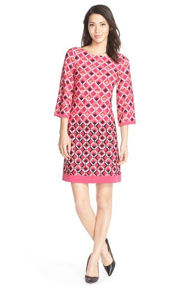 Eliza J Print Jersey A-Line Dress available at #Nordstrom