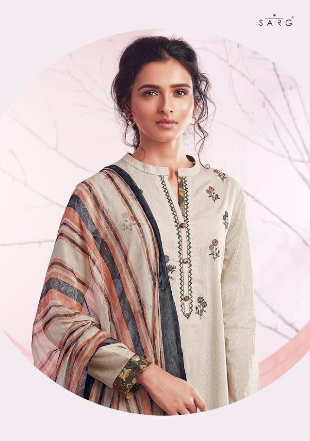 5365f74fce SAHIBA SARG PEACH BASKET DIGITAL PRINTED LAWN COTTON WITH EMBROIDERY WORK  DRESS MATERIAL COLLECTION