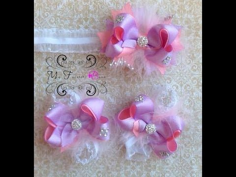 how to make a 3 inch hair bow((My Favorite Bows)) - YouTube