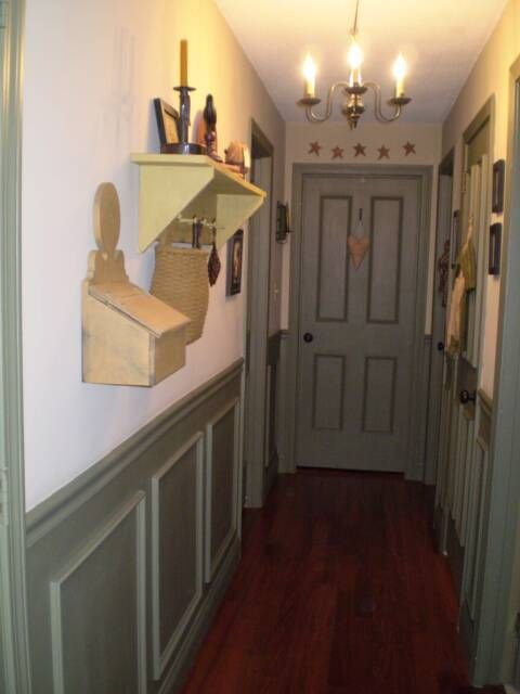 A primitive place primitive colonial inspired hallways for Country hallway ideas
