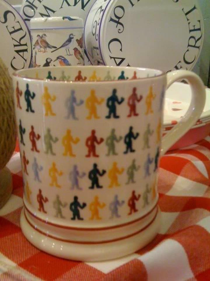Emma Bridgewater Polka Dot People 1 Pint Mug for Fulham re-opening 2010