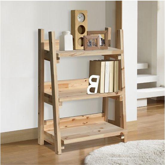 Wooden Shelf Build Yourself Hard Wood Light Assembly DIY 3 Tier Ladder Shelving