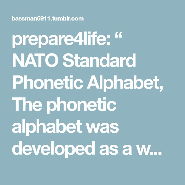 Best Nato Phonetic Alphabet Ideas On Phonetic