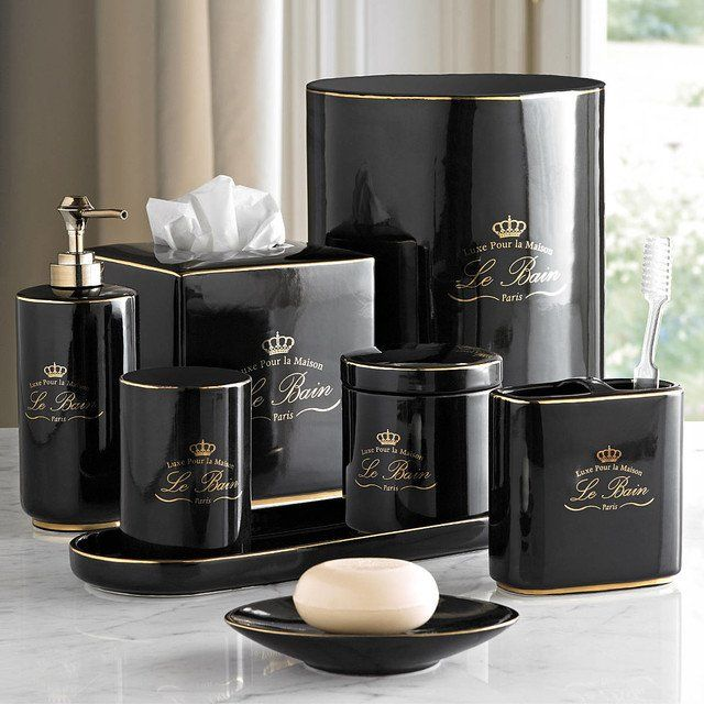 Black And Gold Bathroom Decor Awesome Black Gold Bathroom Accessories In 2020 Black And Gold Bathroom Gold Bathroom Decor Gold Bathroom