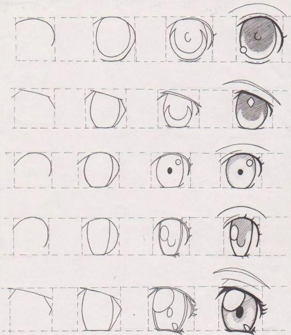 How To Draw An Eye 25 Best Tutorials To Follow Eye Drawing Tutorials Eye Drawing Anime Drawings Tutorials