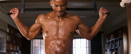 "ウィルスミス: Will Smith Working Out In ""I Am Legend."" Have Mercy!"