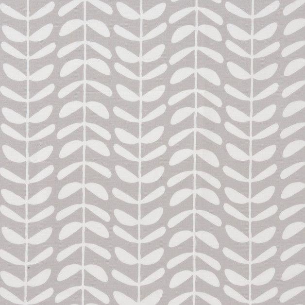 """hochwertiger fester Bio-Canvas, weiße Ranken auf grau   Geeignet für u.a.: Mäntel, Jacken und Anoraks sowie Kissen und Polster  *Zusammensetzung*: 100% Bio-Baumwolle  """"Stoff aus..."""