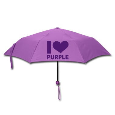 I love Purple umbrella