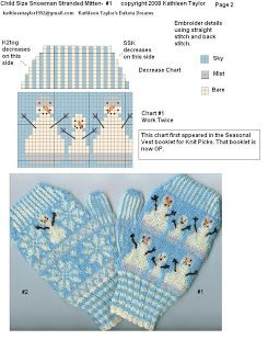 Kathleen Taylor's Dakota Dreams: Free girl knit pattern Friday- Part 1- Stranded Snow Mittens Child Size