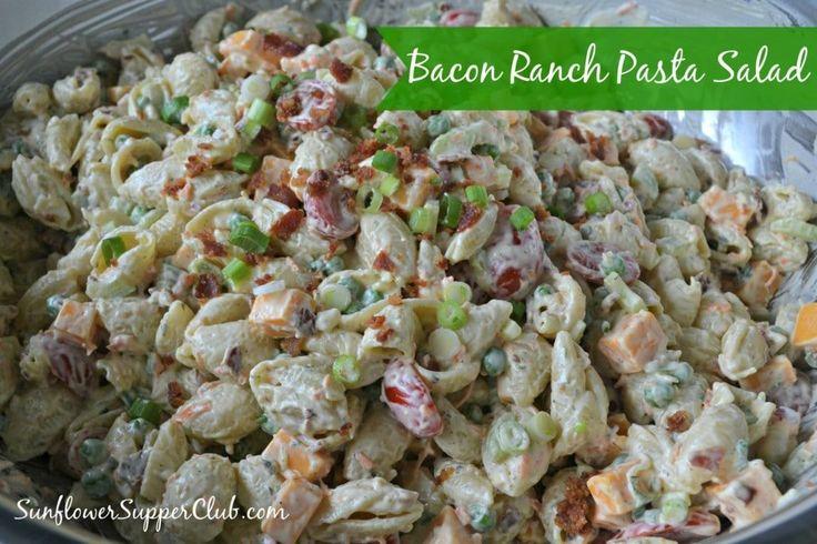 Sunflower Supper Club | Bacon Ranch Pasta Salad…