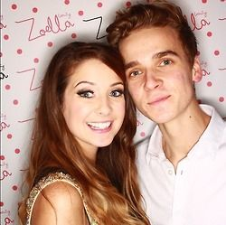 Zoe Sugg and Joe Sugg at the Zoella Beauty launch.