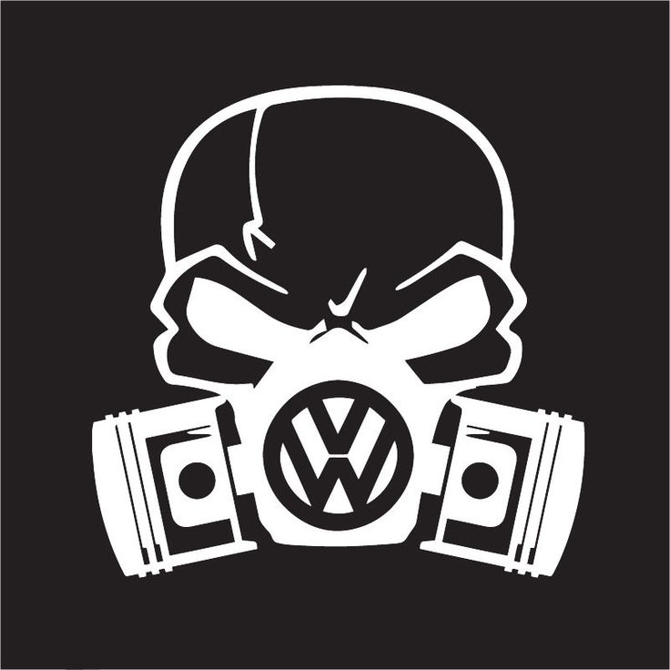 Custom volkswagon skull mask for golf gti vw jetta beetle euro car sticker jdm