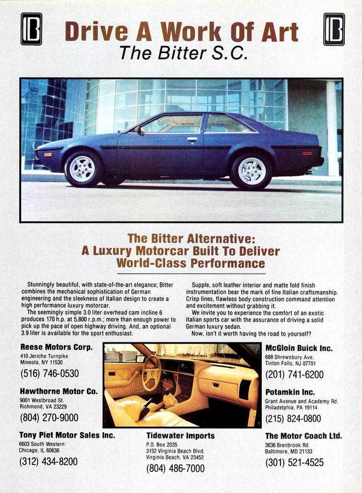 1979 America Corvette Four Door Sports Cars Luxury Bitter Sports Coupe