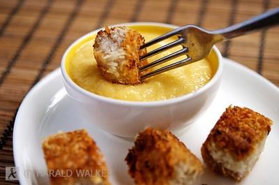 Crispy Coconut Crusted Tofu with Mango Chili Cream - Vegan