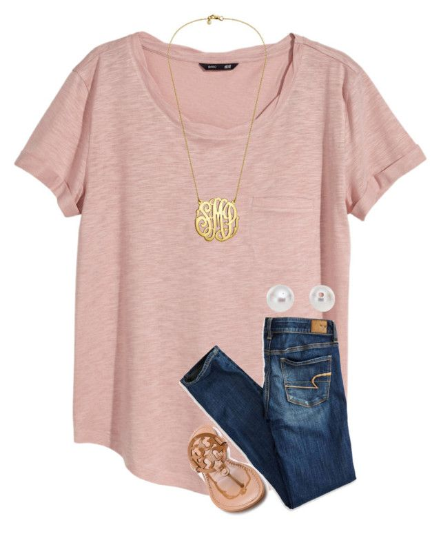 """""""{be like a pineapple, stand tall and wear a crown}"""" by preppy-southern-girl-1-2-3 ❤ liked on Polyvore featuring H&M, American Eagle Outfitters, Tory Burch and Pearlyta"""