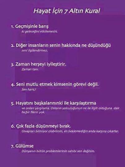 Kakara Kikiri: Hayat İçin 7 Altın Kural...