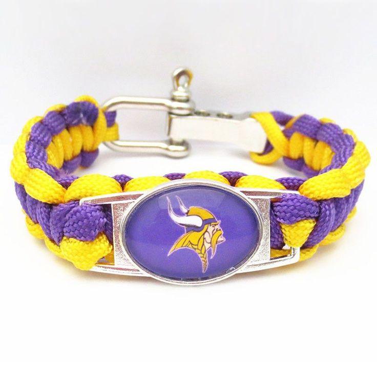 NFL Minnesota Vikings Football Team Bracelet