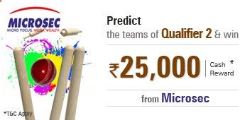 Predict the two teams of Qualifier 2 of 20-20 #Cricket Tournament. #Online Games #Prediction Games #Play Games online #Free online Games #Predict & Win #Gaming Portal #Win Money Online #Win Deals Online #Stock Market Games #Online Cricket Games #Reality Show Games #IPL Games #Play & Win Cash #IPL Contest #Win discount coupon #Online discount coupon #Online Cash Voucher #Predict to Play #Forecasting game #Game of prediction #CASH COUPON #Win Reward Vouchers