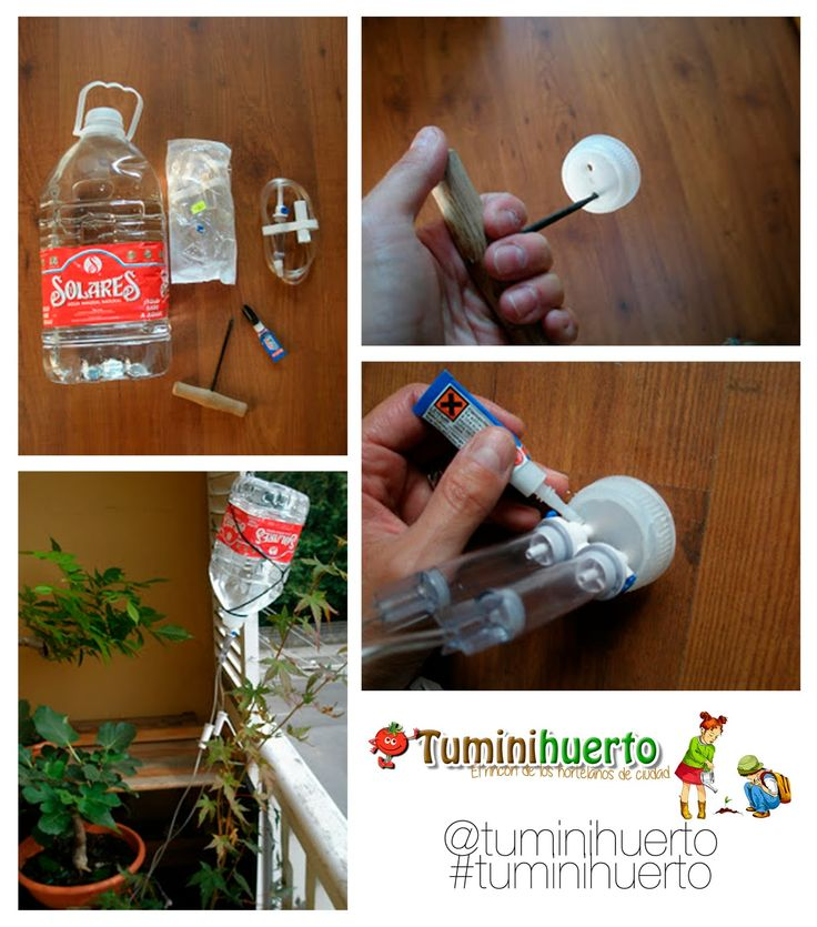 Tuminihuerto: Sistema de riego por goteo casero automático. Do it yourself