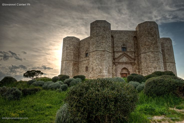 Castel del Monte (Italian: Castle of the Mount) is a 13th-century castle situated in Andria (Puglia region, southeast Italy). It was built by the Holy Roman Emperor Frederick II during the 1240s.