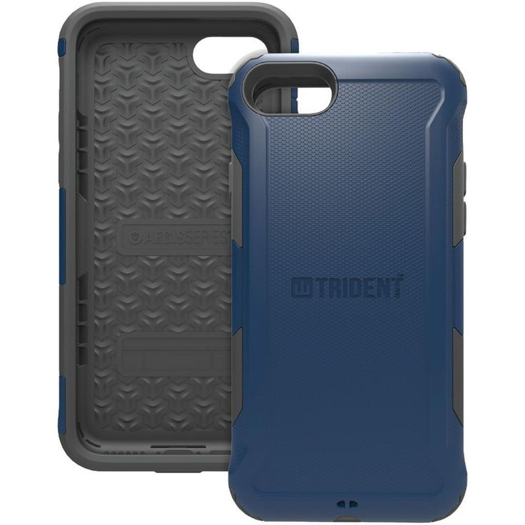 TRIDENT AG-APIPH7-BL000 iPhone(R) 7 Aegis(R) Case (Blue). Polycarbonate framework protects against impacts ;  6ft drop protection ;  Protects ports from dirt & debris ;  Sleek, slim design ;  Produced from recyclable, degradable & compostable bio-enhanced plastic ;  Meets military standard MIL-STD-810F ;  Blue;TRIDENT AG-APIPH7-BL000 iPhone(R) 7 Aegis(R) Case (Blue)Condition : This item is brand new, unopened and sealed in its original factory box.
