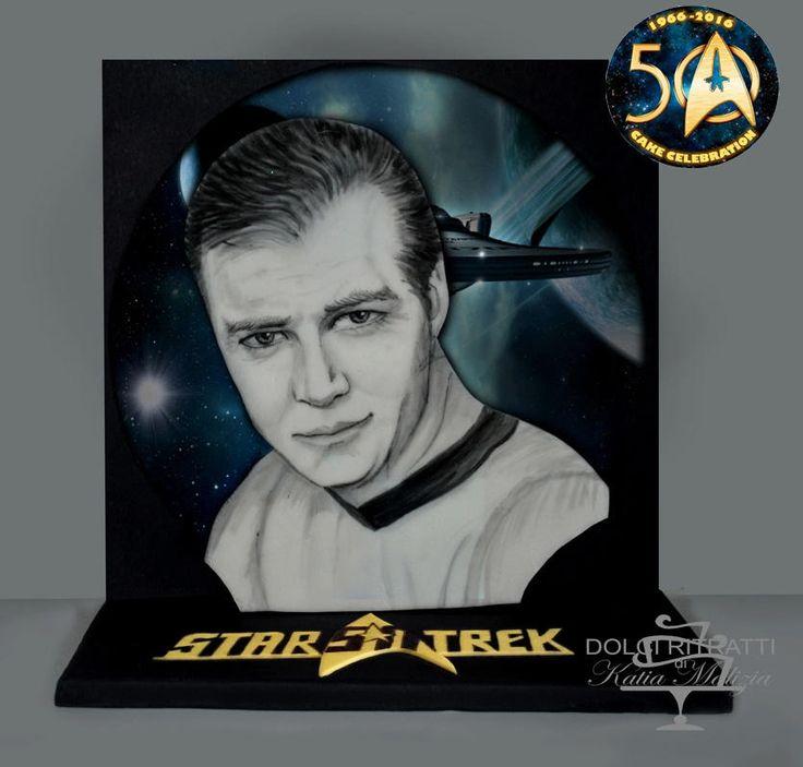 Capitain James Kirk for Star Trek 50 Cake Celebration - Cake by Dolci Ritratti di Katia Malizia