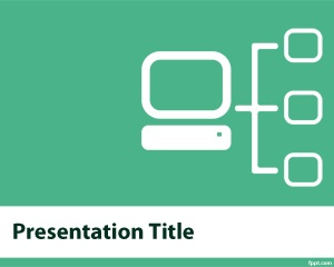 Free computer network PowerPoint template for IT departments