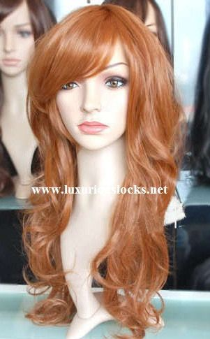 Ophelia // Beautiful Long Ginger Red Wig with Side by ginabarto, $59.00-- Maybe i'll try it out before I go all the way......... eeeee!!