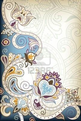 Floreado Indio Imágenes De Archivo, Vectores, Floreado Indio Fotos Libres De Derechos