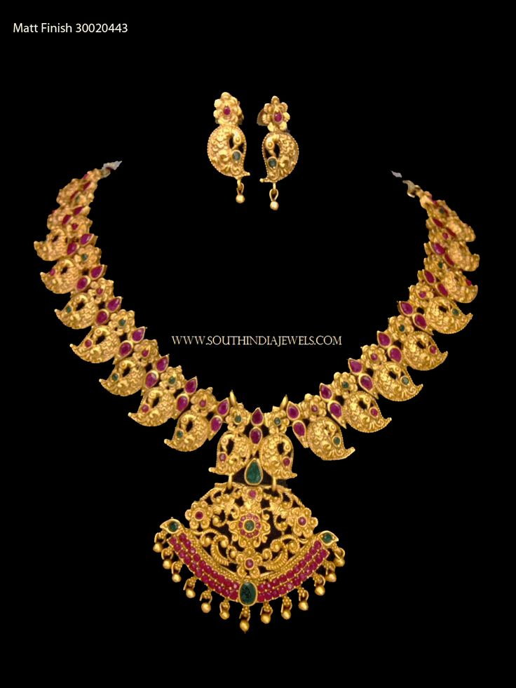 Gold plated attigai necklace collections. For more jewellery designs, check out the complete collections on our website.