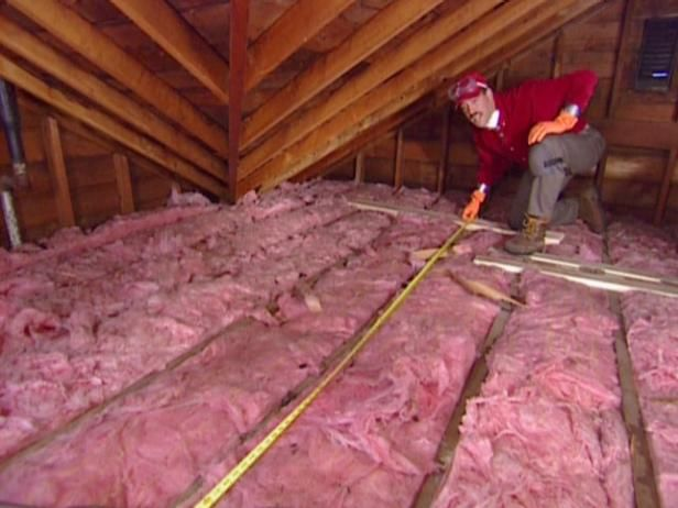 DIYNetwork.com demonstrates how to install fiberglass insulation in an attic.