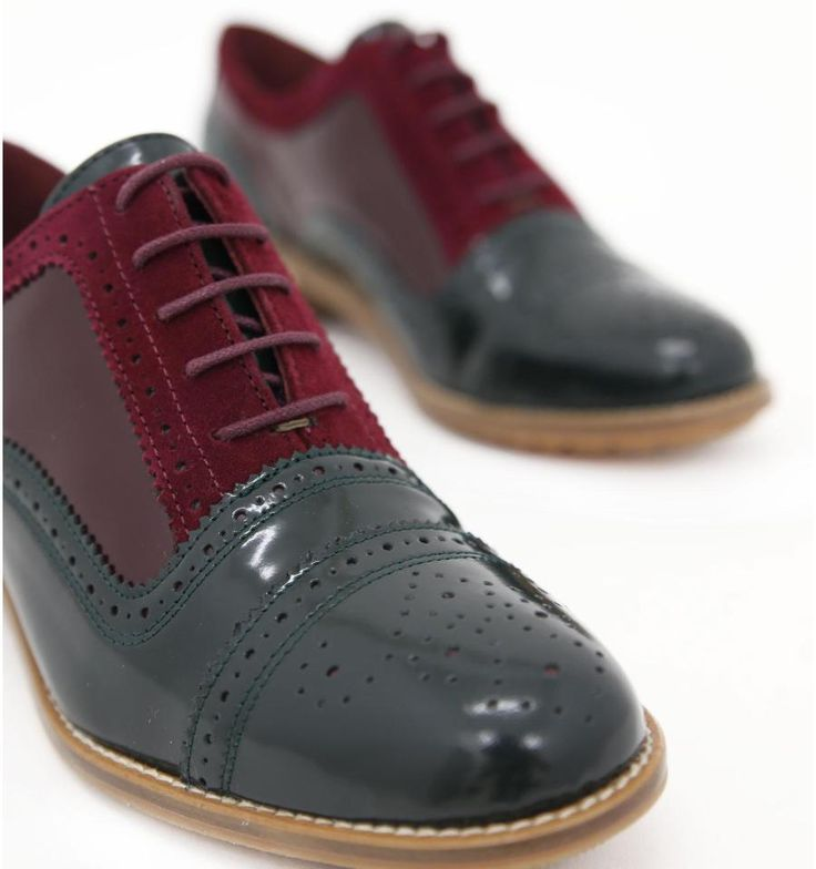 Zapatos Shuji color burdeos ¡adorables!