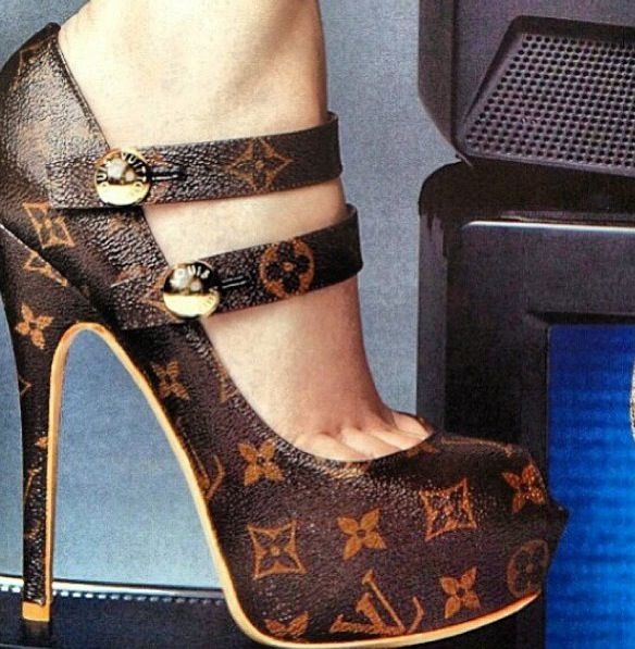 Another Pinner Said--Louis Vuitton Shoes. i have died and gone to shoe heaven.