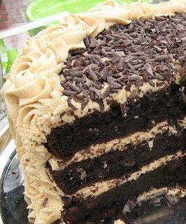 Triple chocolate peanut butter cake!