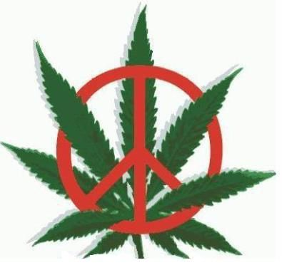 Pot Leaf Peace Sign Tattoo