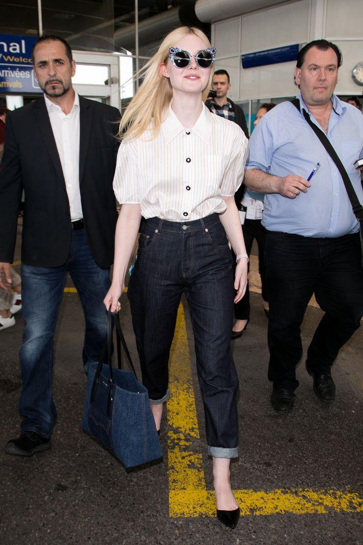 Airport Style Is Better in France: See What Elle Fanning, Bella Hadid and More Wore to the Cannes Film Festival Photos | W Magazine