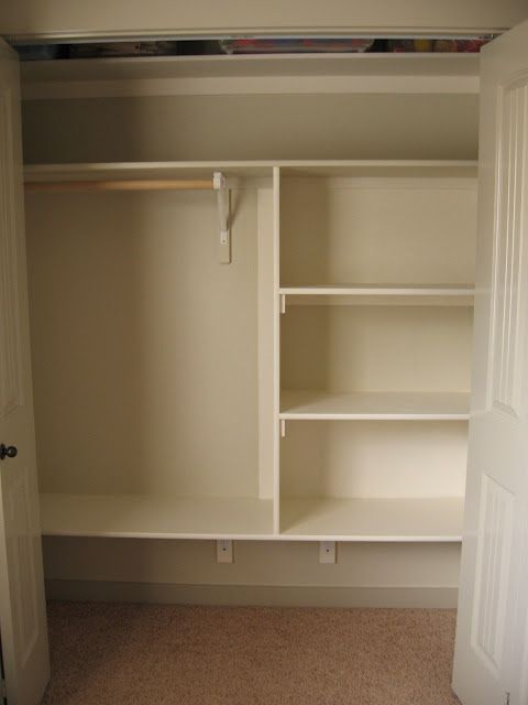 Closet Shelving DIY - I so need to do this to a few of my closets