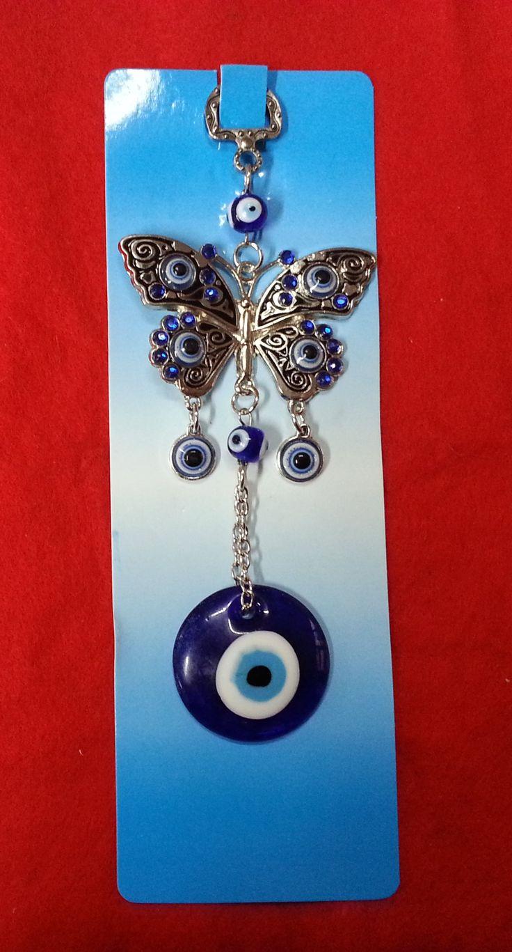 Colgante de ojo turco con mariposa https://www.facebook.com/FenghShuiTradicionalMexico
